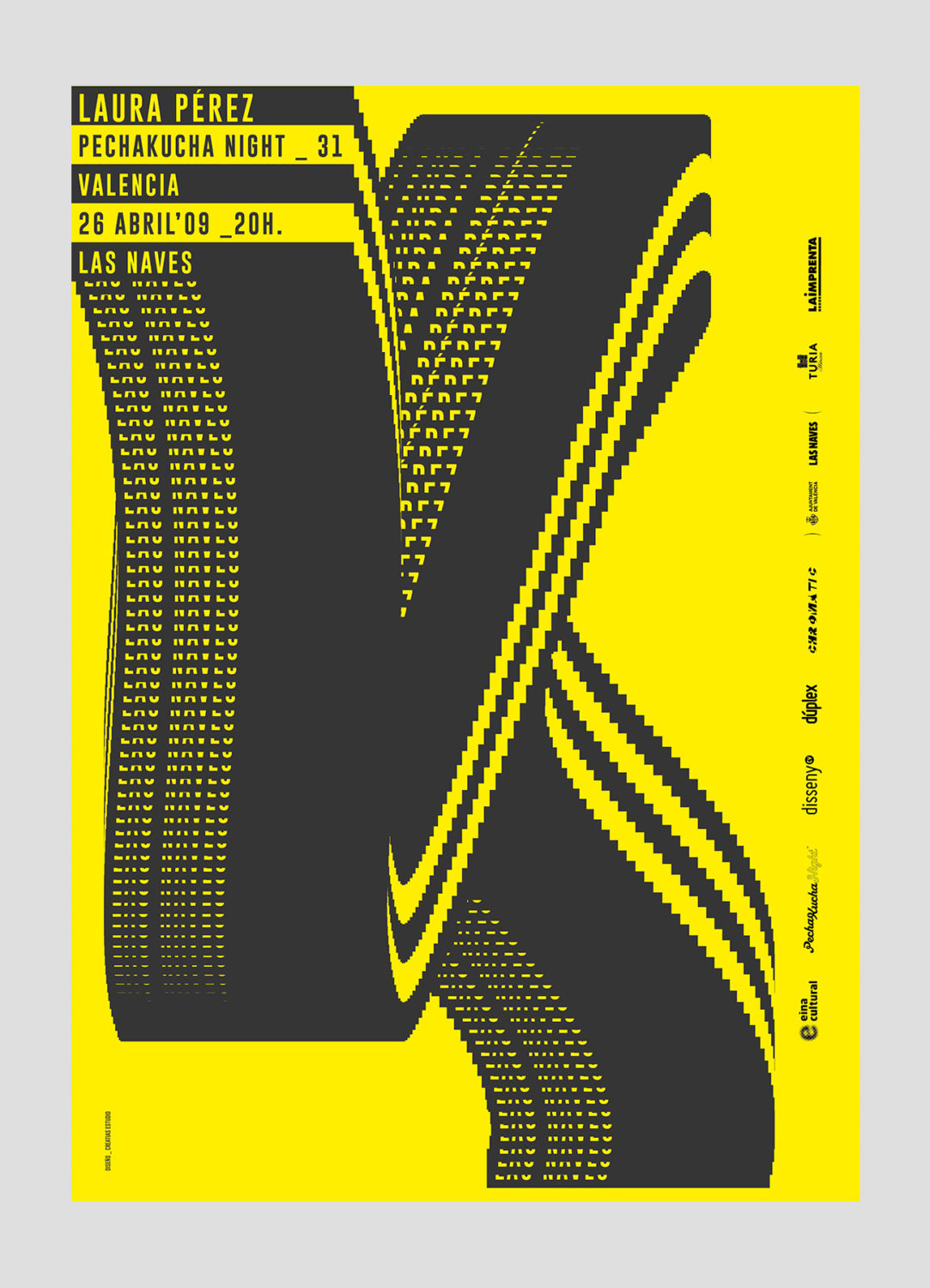 Cartel PechaKucha Night 31 Valencia, por Creatias Estudio