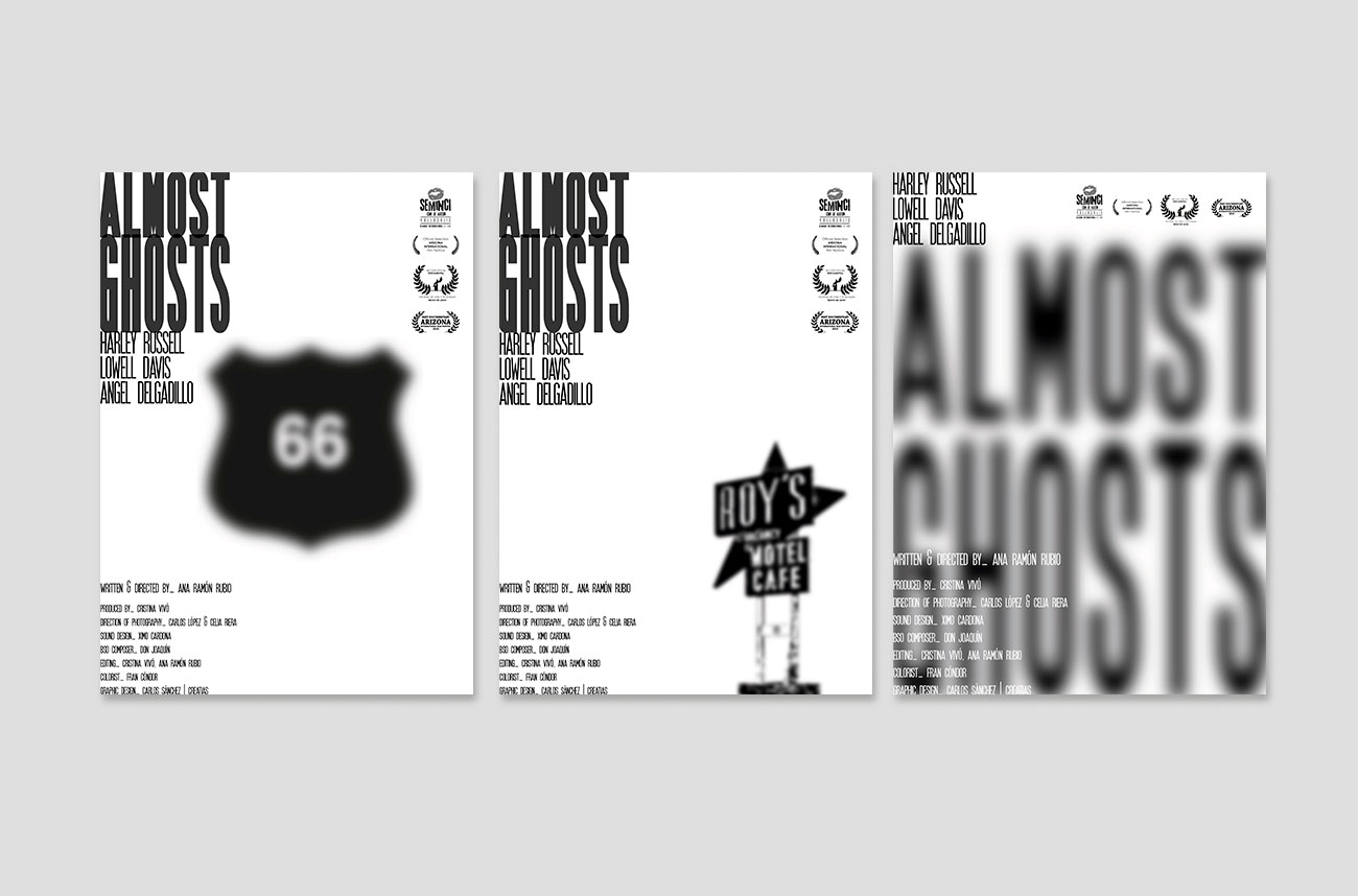 Serie carteles Almost Ghosts por Creatias Estudio