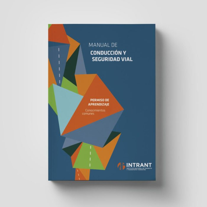 Diseño editorial Manual de conducción INTRANT por Creatias Estudio