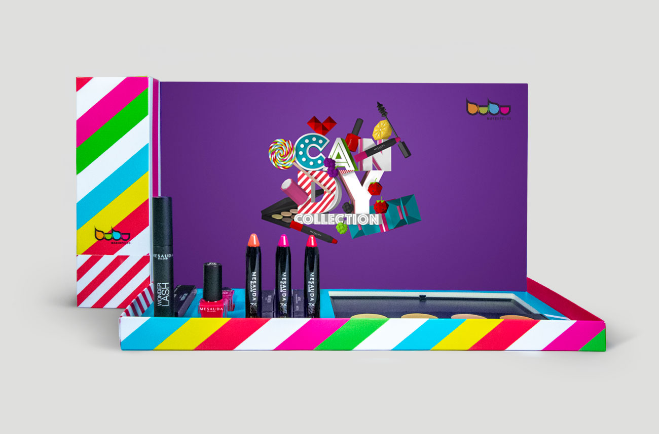 Packaging Candy Bubu Makeup por Creatias Estudio